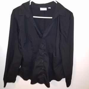 NY&CO black Button down long sleeve top